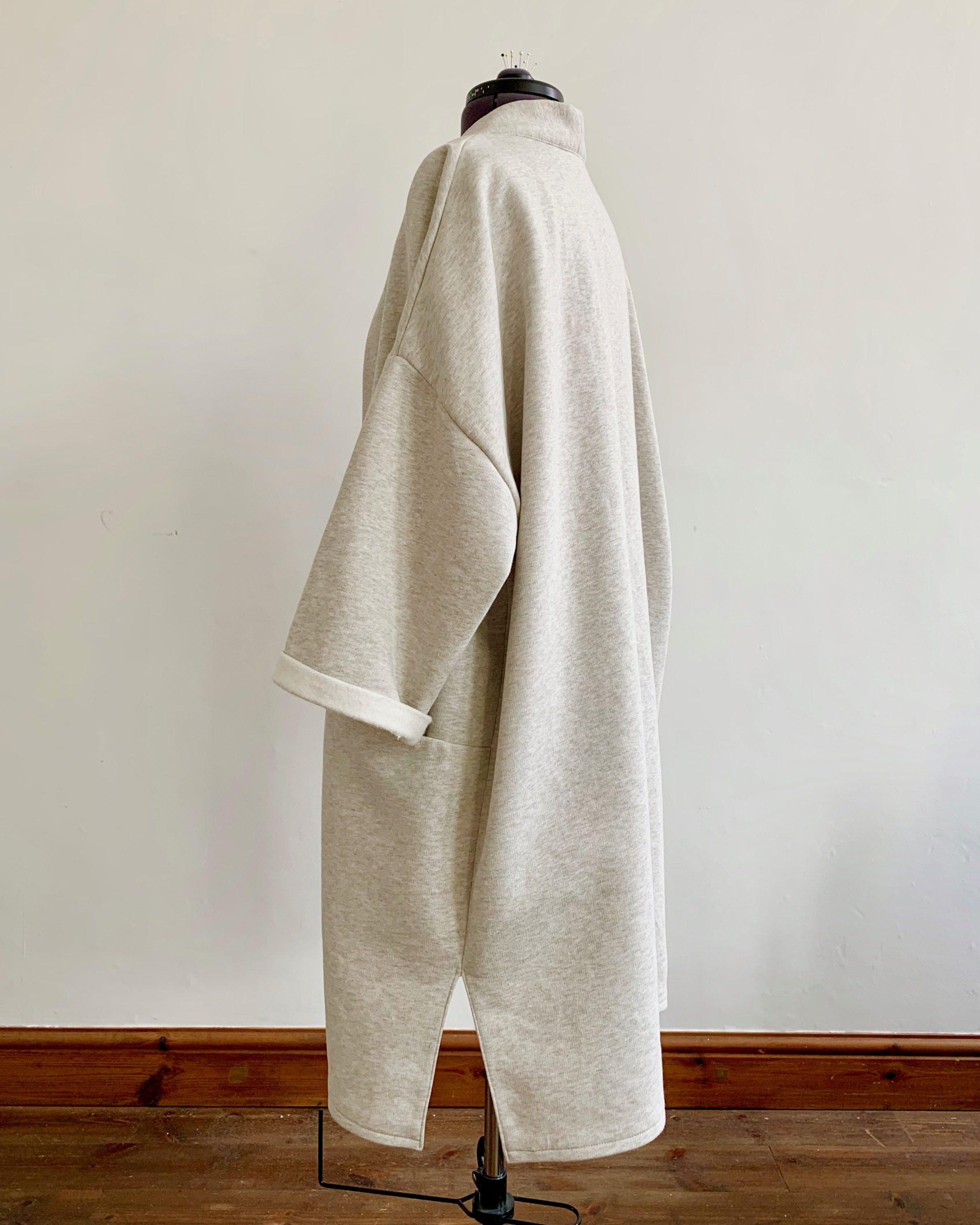 organic cotton fleece jacket side