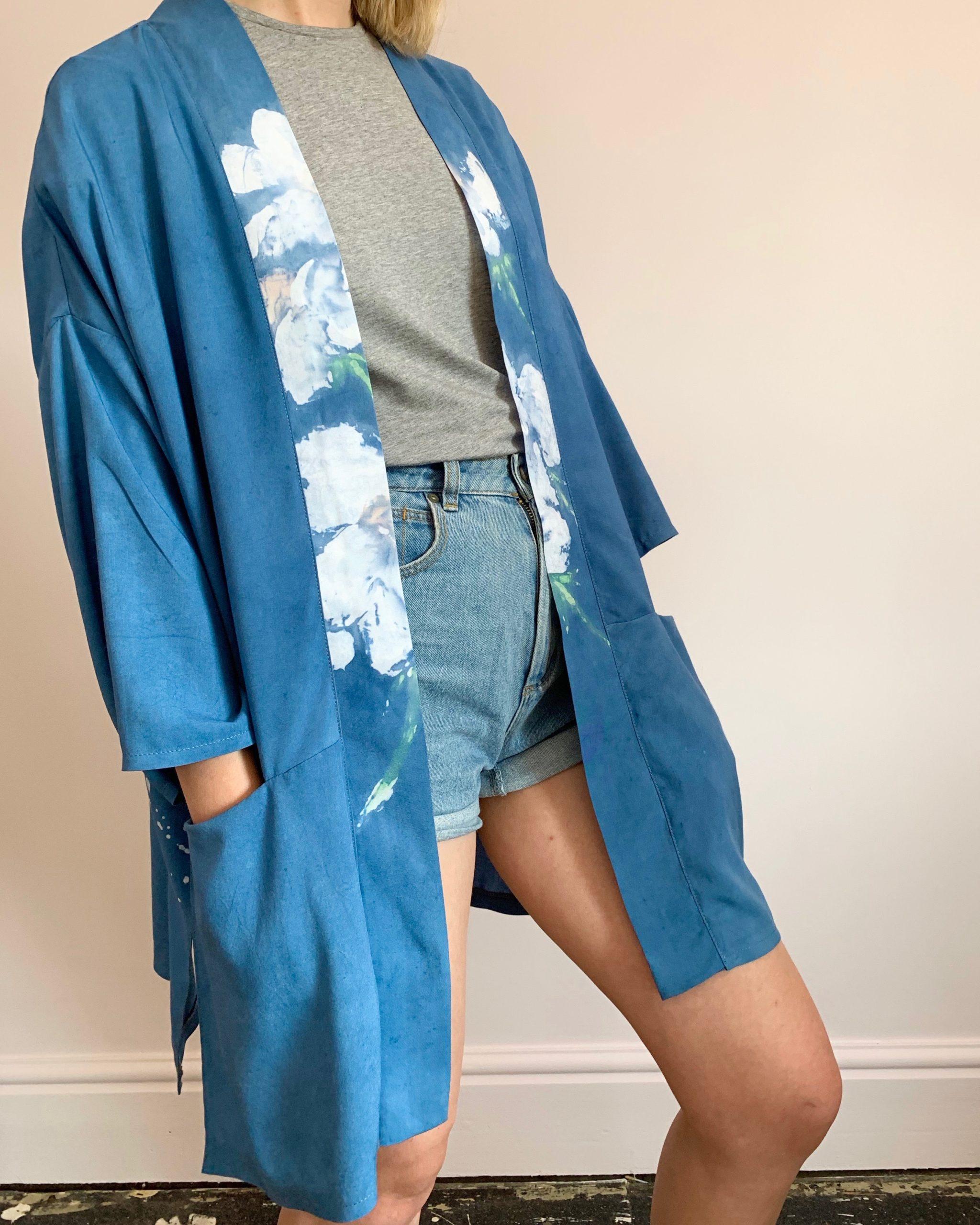 hand-painted bamboo jacket