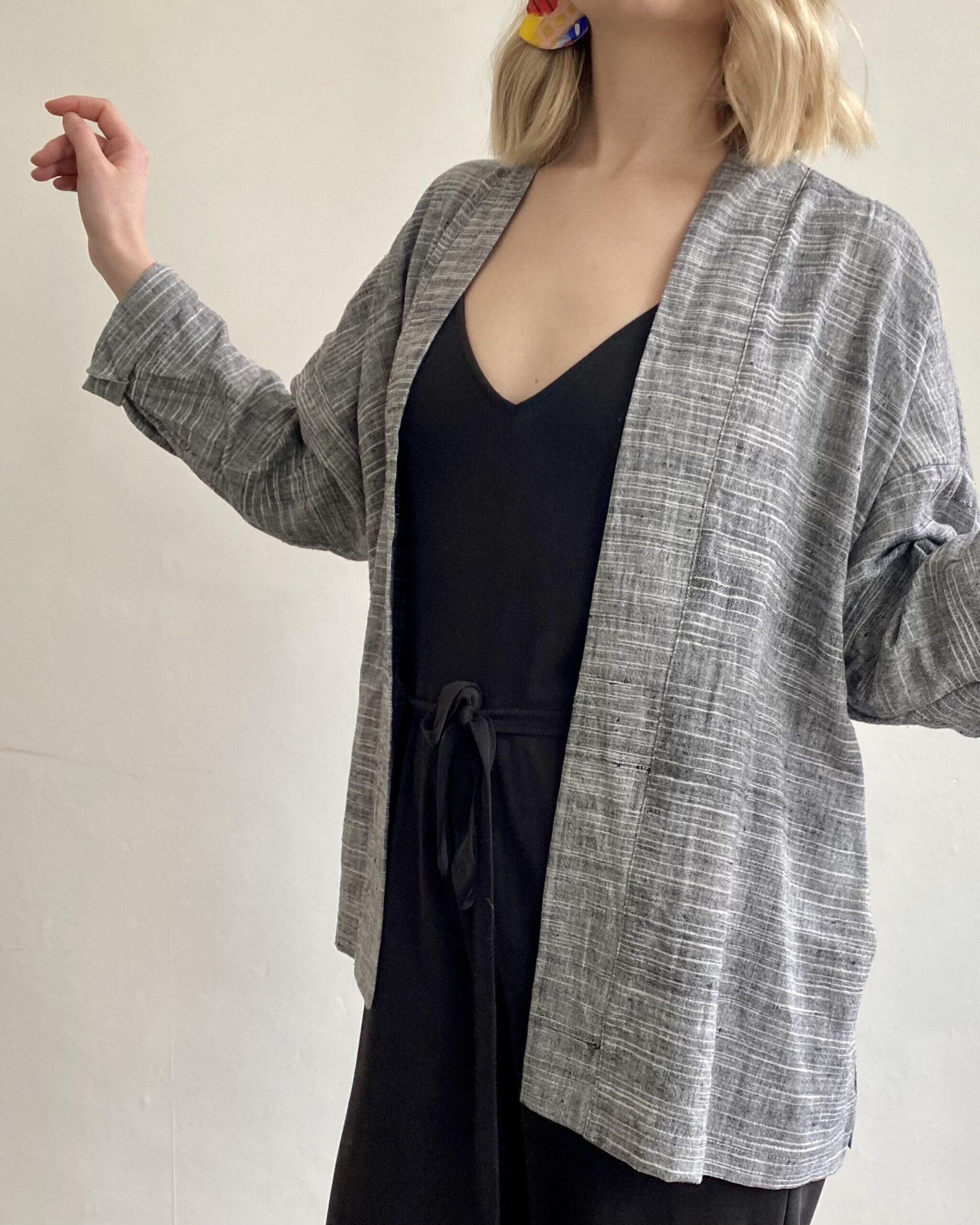organic cotton kimono jacket