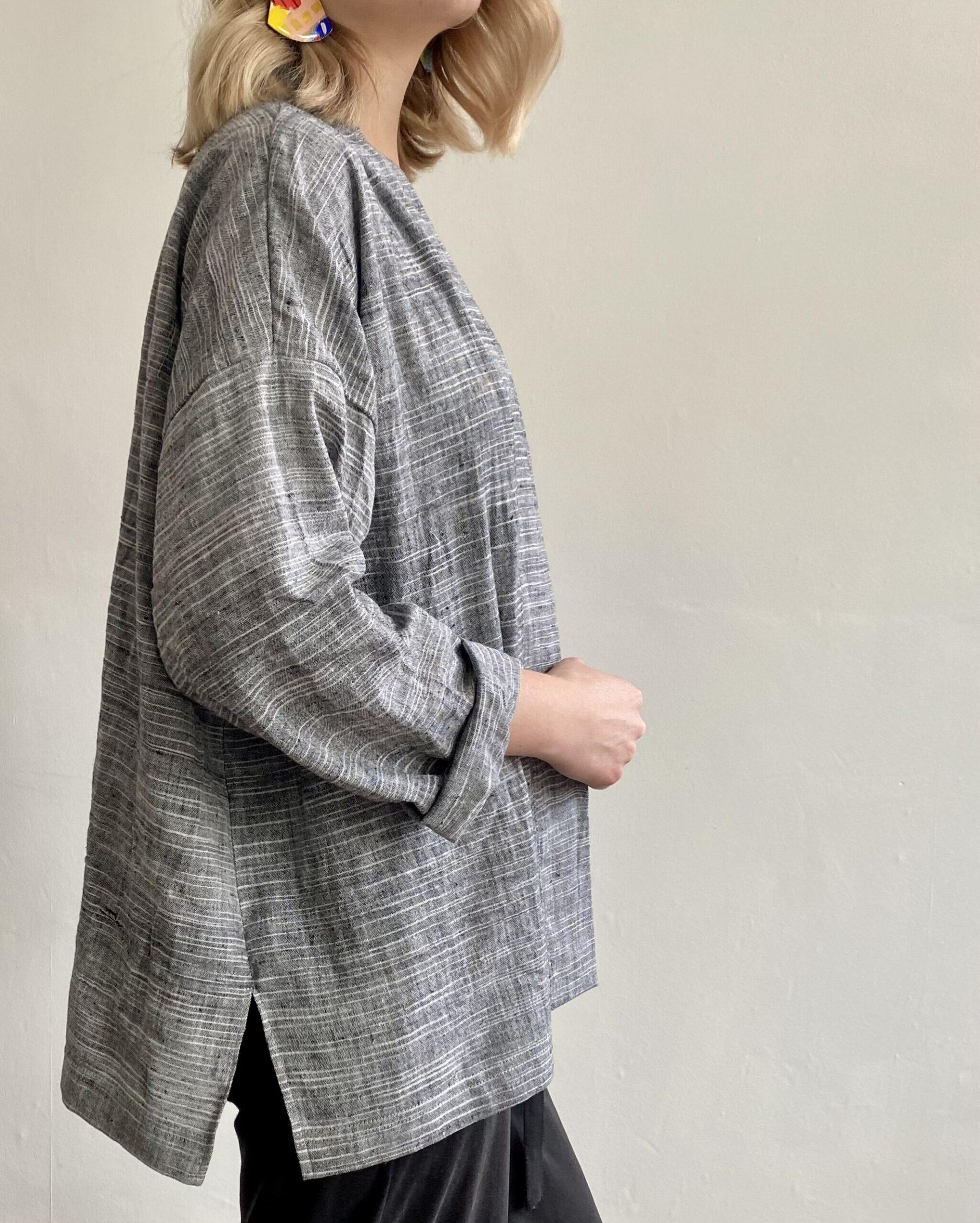 handwoven fair trade duster jacket