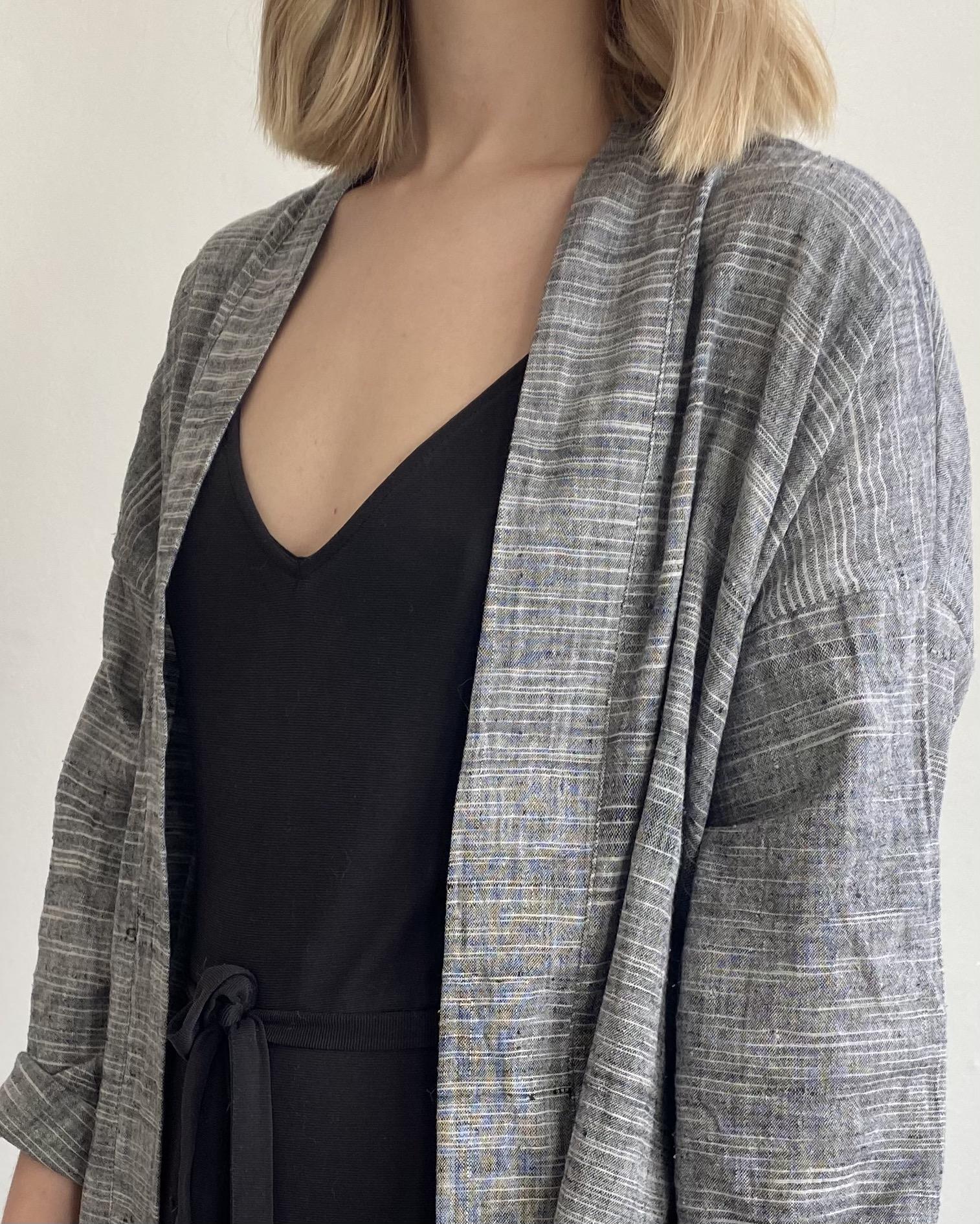 grey organic cotton jacket