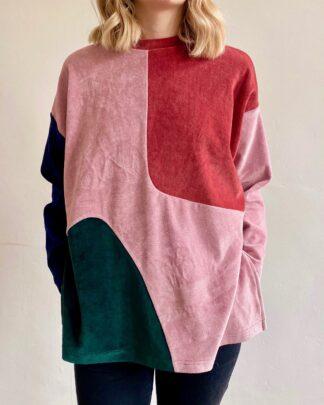 abstract shapes organic jumper