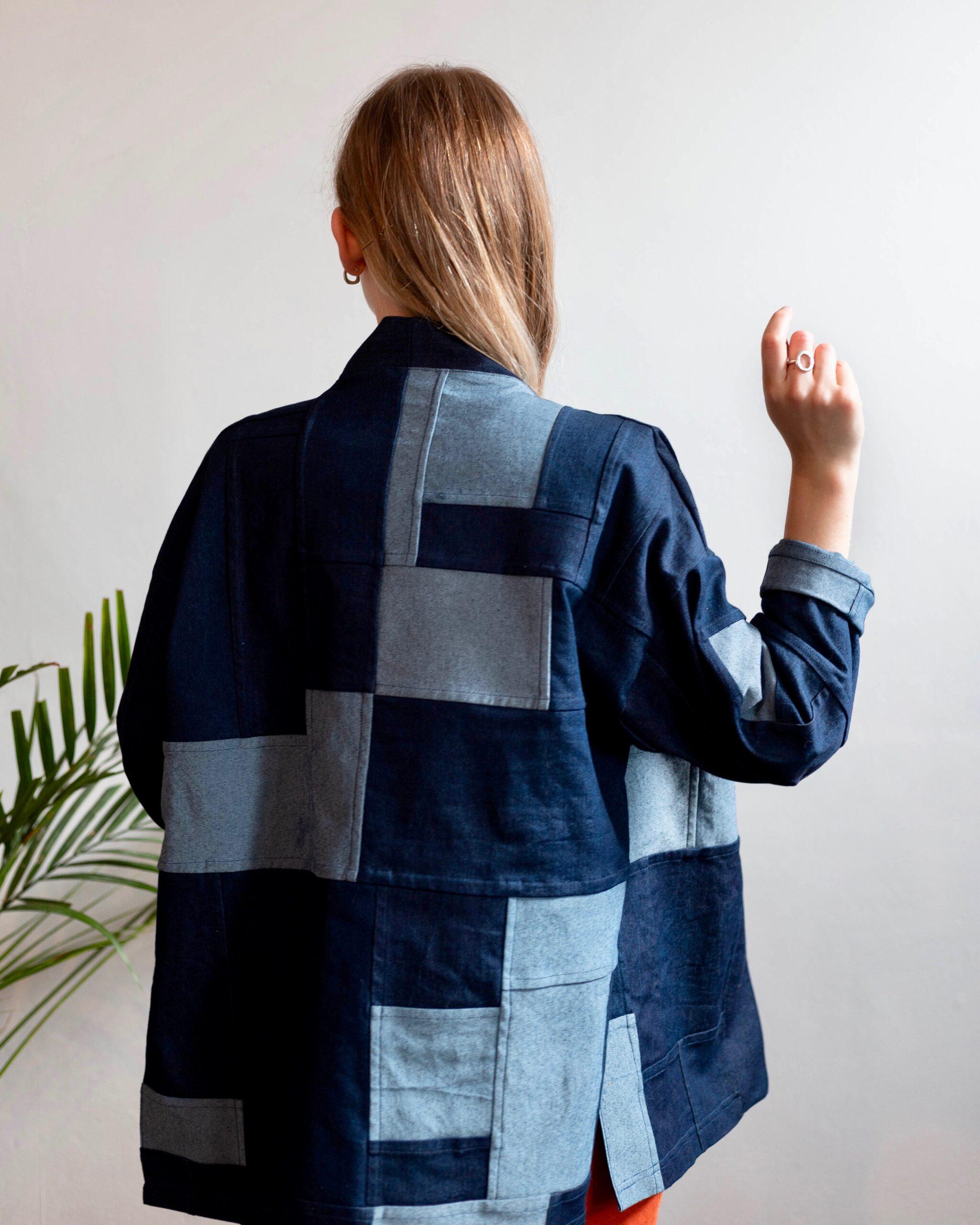 handmade zero waste denim jacket